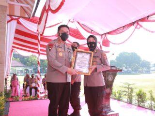 Waw… Polres Loteng Raih Penghargaan terbaik pertama dalam perawatan personel