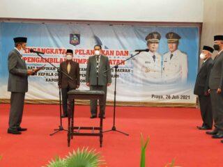 Bupati Lombok Tengah Lantik Lalu Firman Wijaya Sebagai SEKDA