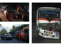 Tabrakan Beruntun Terjadi di Jalan Umum Desa Tanak Awu Loteng