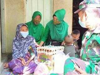 Aksi Sosial Danramil 1620-07/Batukliang, Bagi-Bagi Sembako