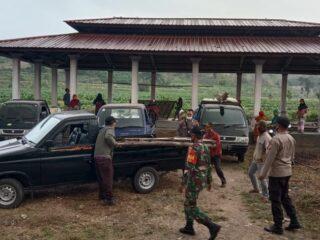 Polsek Janapria Kawal Pemindahan Pasar Lekor ke Lokasi Baru